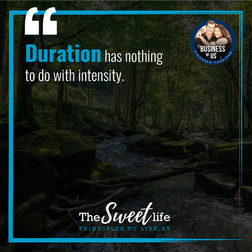 Duration has Nothing to Do with Intensity